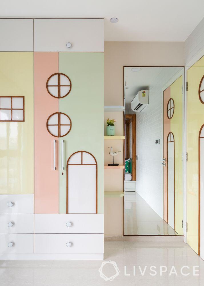 pastel wardrobe-kid's wardrobe