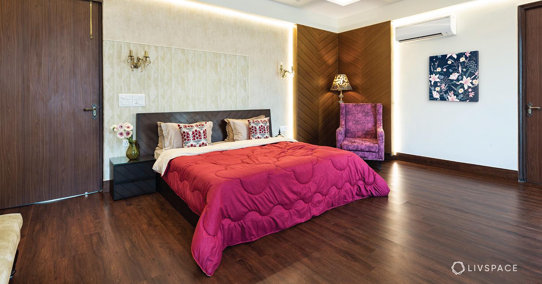 wooden flooring-laminate wood-bedroom