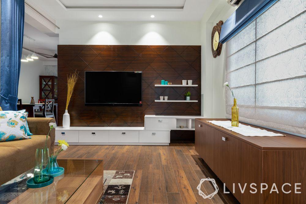 wooden flooring-laminated wood-wooden TV unit