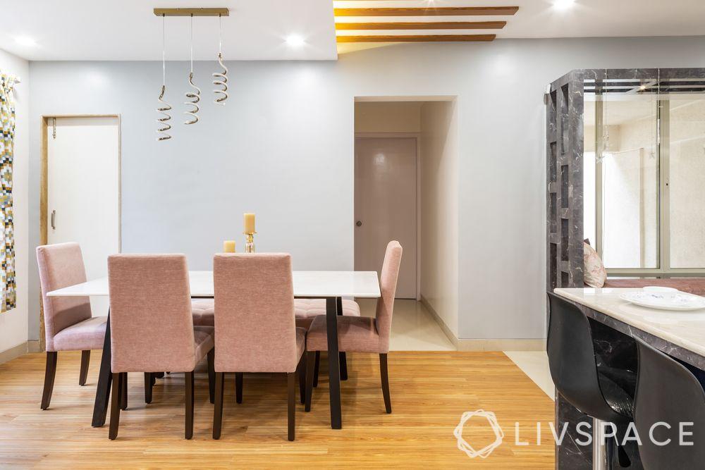 wooden flooring India-dining room