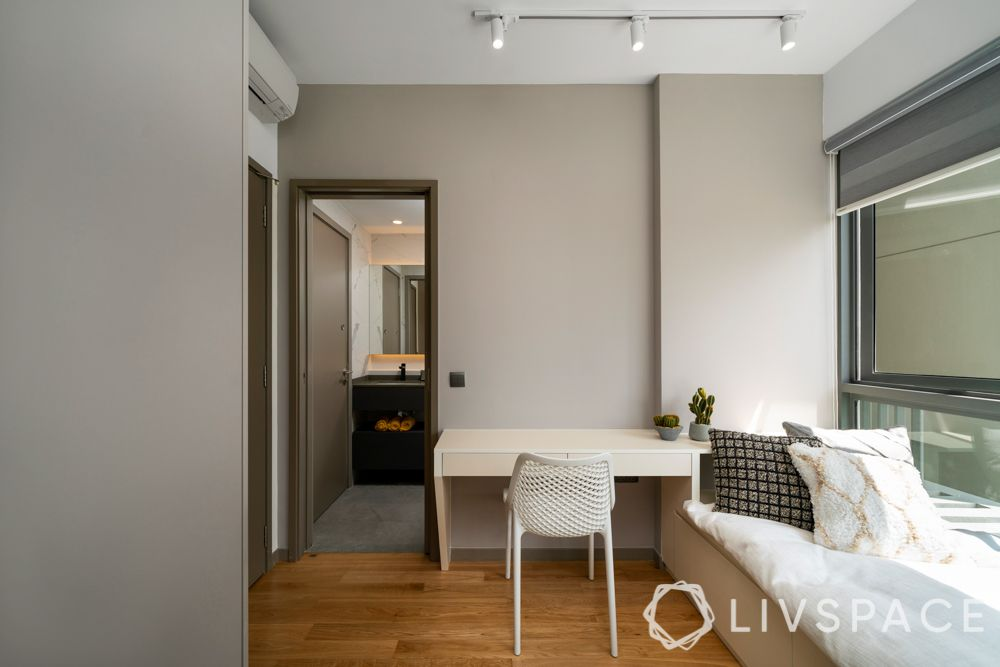 living-room-ideas-compact-study-room-white-desk-wooden-flooring