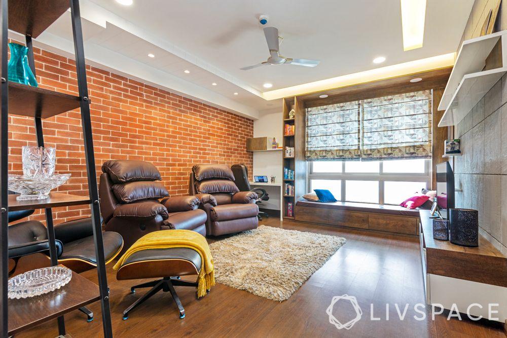living-room-ideas-light-window-seat-wooden-flooring-brick-wall-brown-recliners