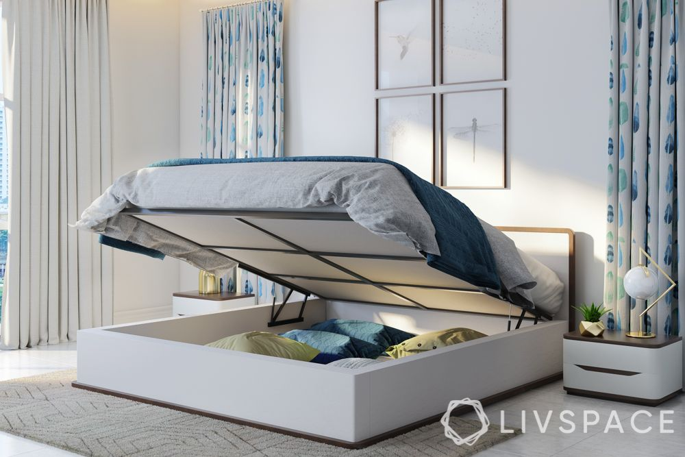 bedroom makeover-hydraulic bed
