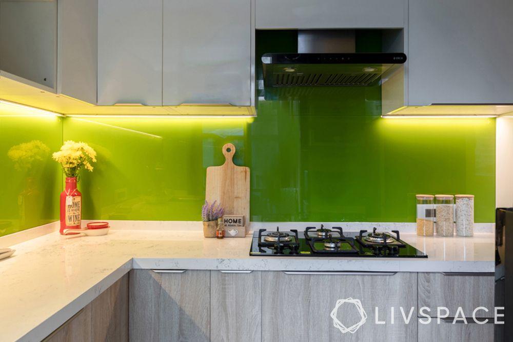 kalinga-stone-kitchen-green backsplash-LED lights