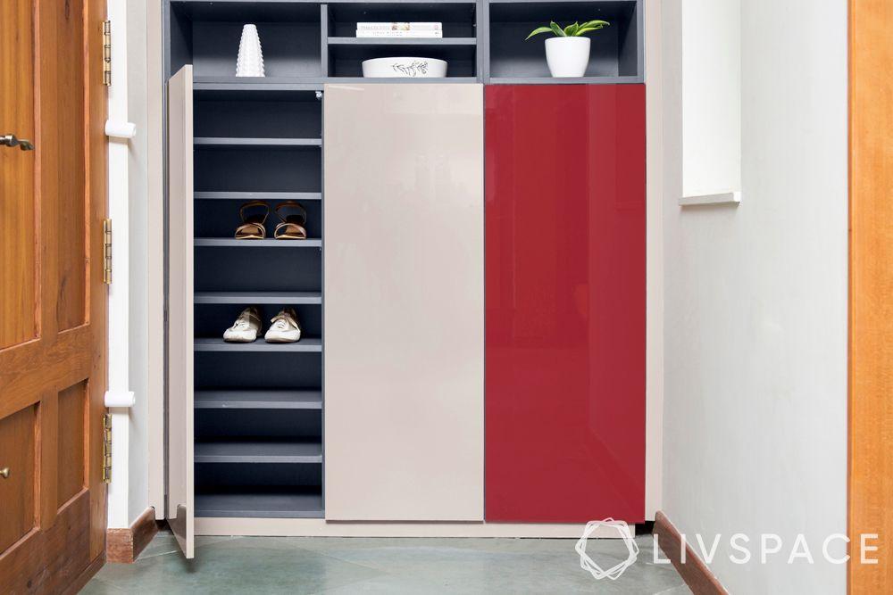 modern wardrobe design-almirah-shoe racks