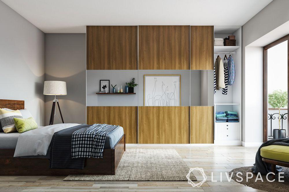 latest wardrobe design-wooden wardrobe-glass