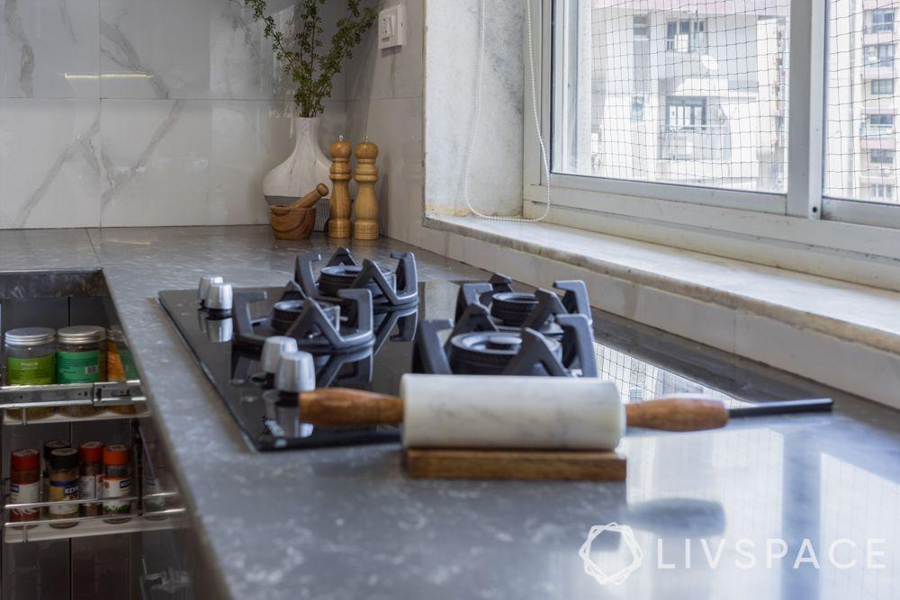quartz countertop-grey slab