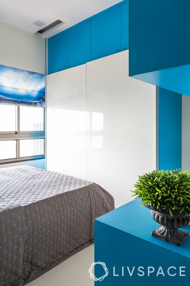 small-house-design-plans-kids-bedroom-blue-white-wardrobe