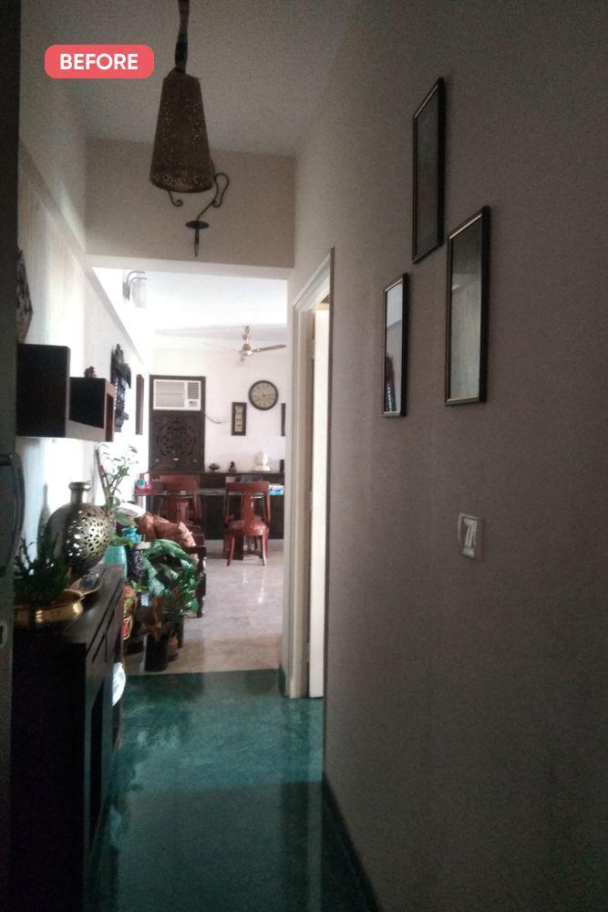 mumbai house-before photo-foyer-dark