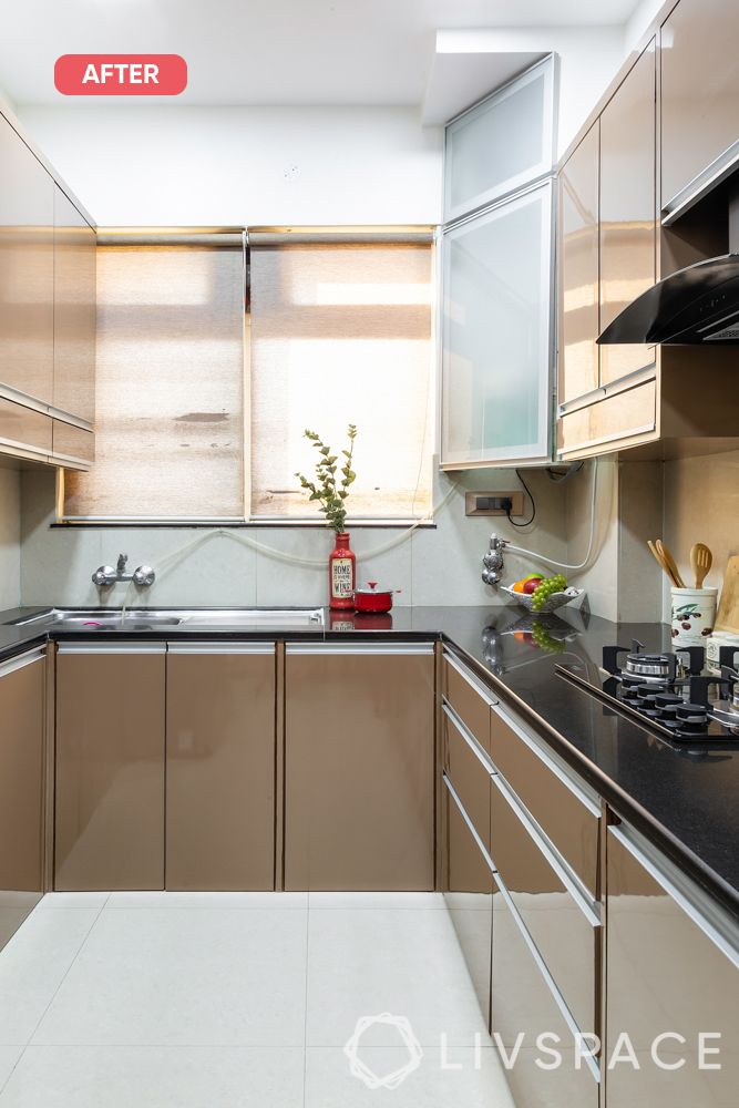 mumbai flat-after photo-beige kitchen