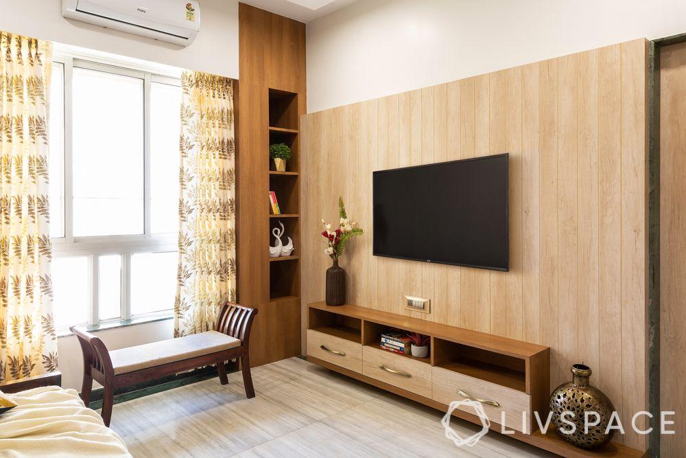 mumbai flat-storage in niche-TV unit