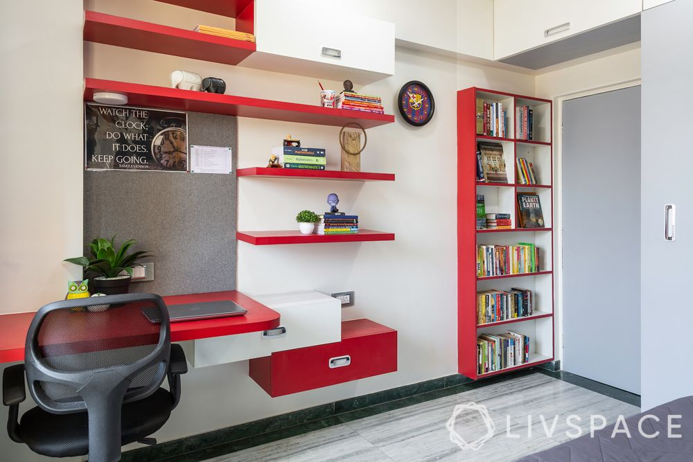 mumbai flat-study unit-bookrack