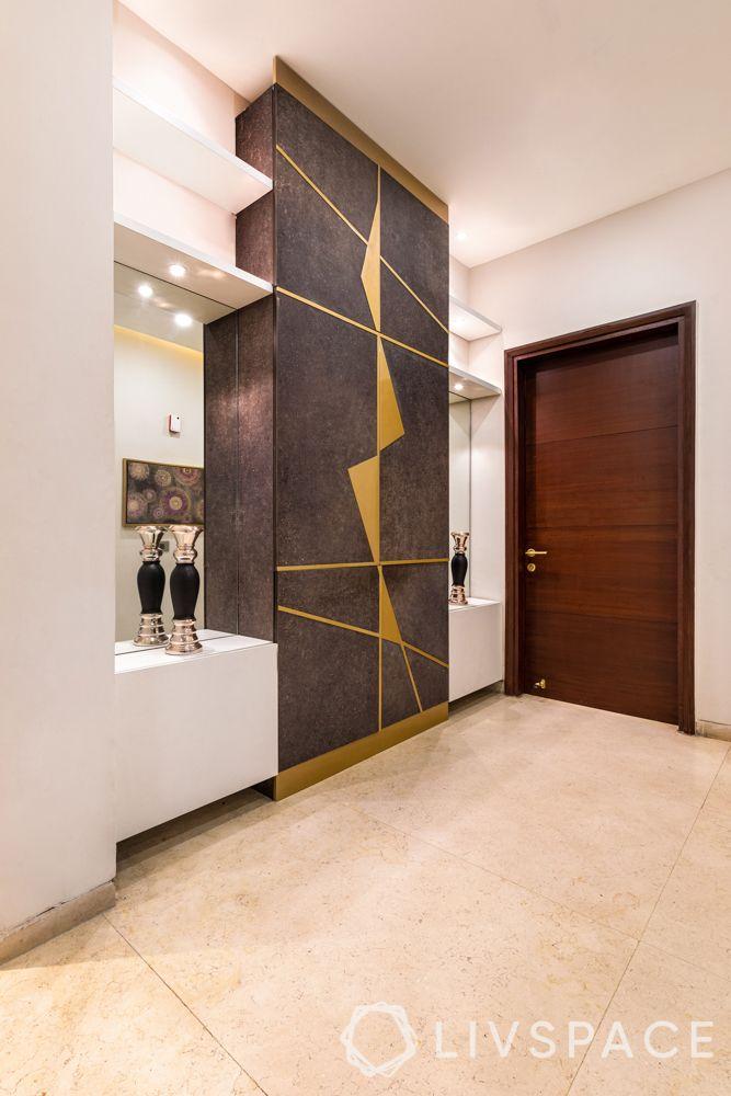 foyer decor-cabinet-wall niches