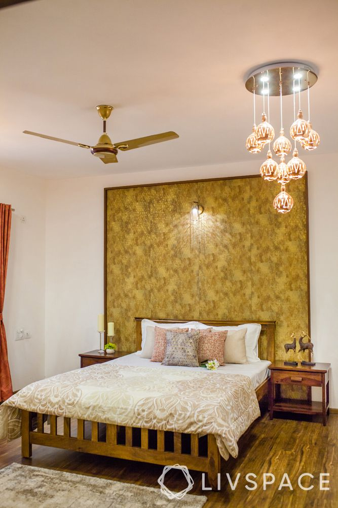 small modern house design-bedroom-ceiling lights-spotlight-accent wall