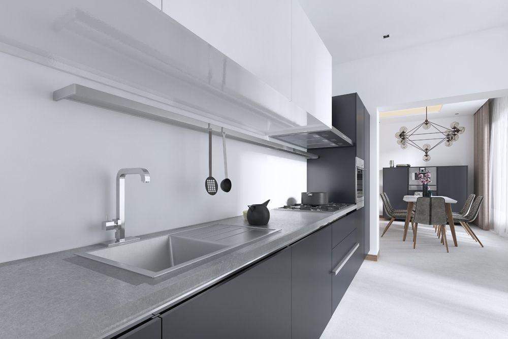 small house design-matte cabinets