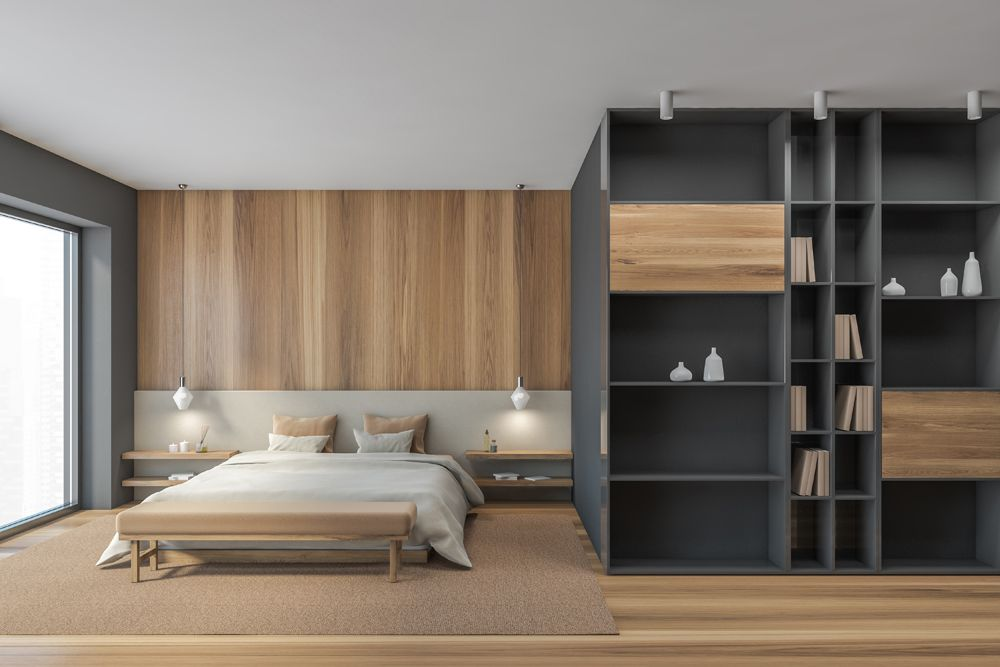 small house design-wardrobe-bed