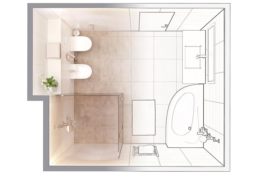 modern bathroom ideas-shower-bathtub