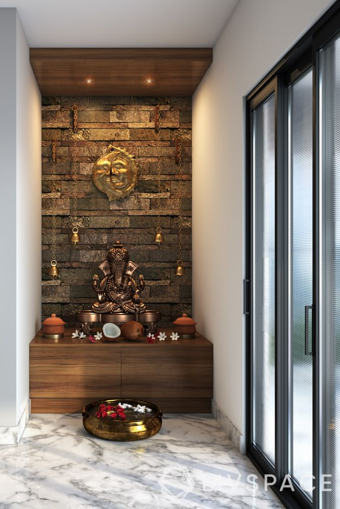 wooden-temple-for-home-stone-effect-lights