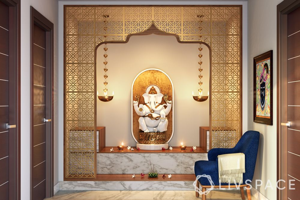 wooden-temple-for-home-jaali-white-marble-ganesh-murti