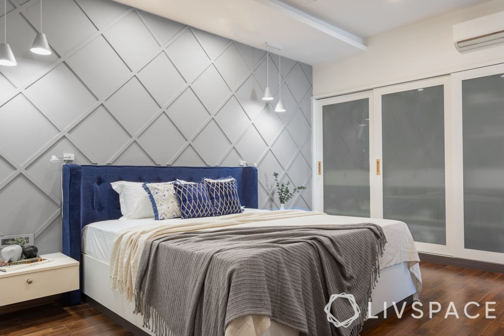 bedroom-colour-grey-accent-wall-blue-headboard