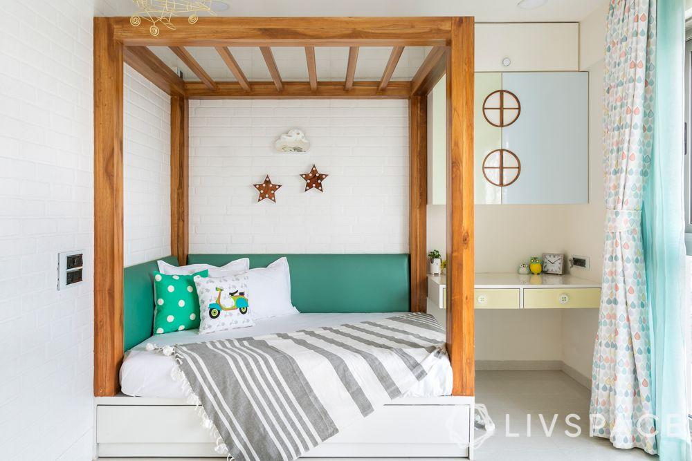 bedroom-colour-teal-headboard-white-room