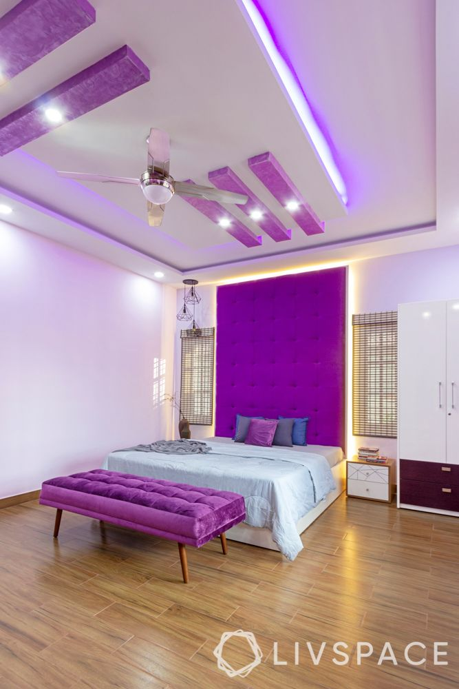 bedroom-colour-purple-headboard-purple-seat