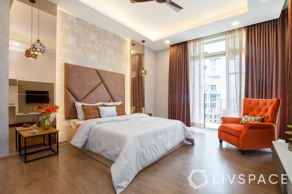 bedroom-colour-brown-headboard-brown-drapes