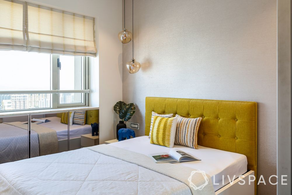 bedroom-colour-yellow-headboard-white-small-bedroom