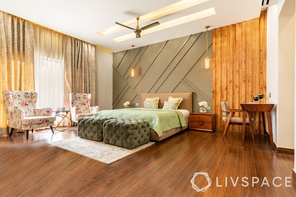 bedroom-colour-wood-flooring-green-accent-wall