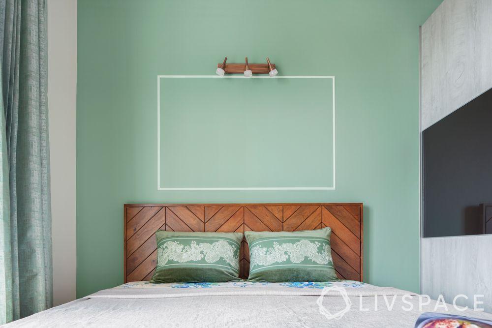 bedroom-colour-sea-green-accent-wall-wood-headboard
