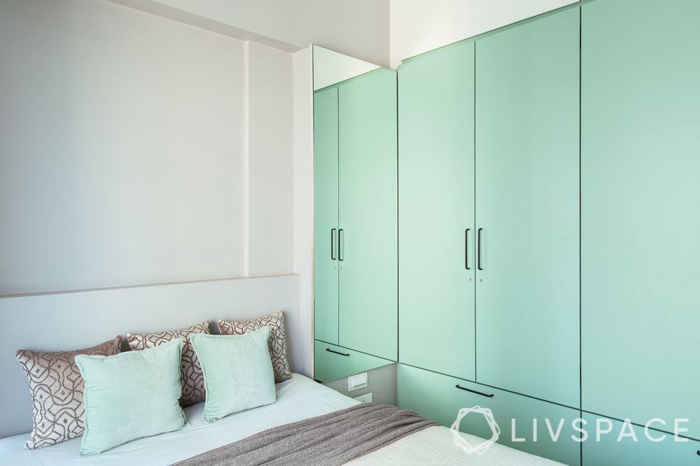simple-bedroom-design-turquoise-wardrobe