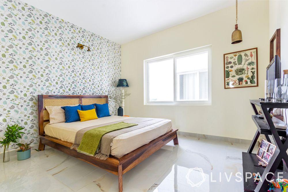 bedroom design ideas-mid century modern bedroom-wooden bed
