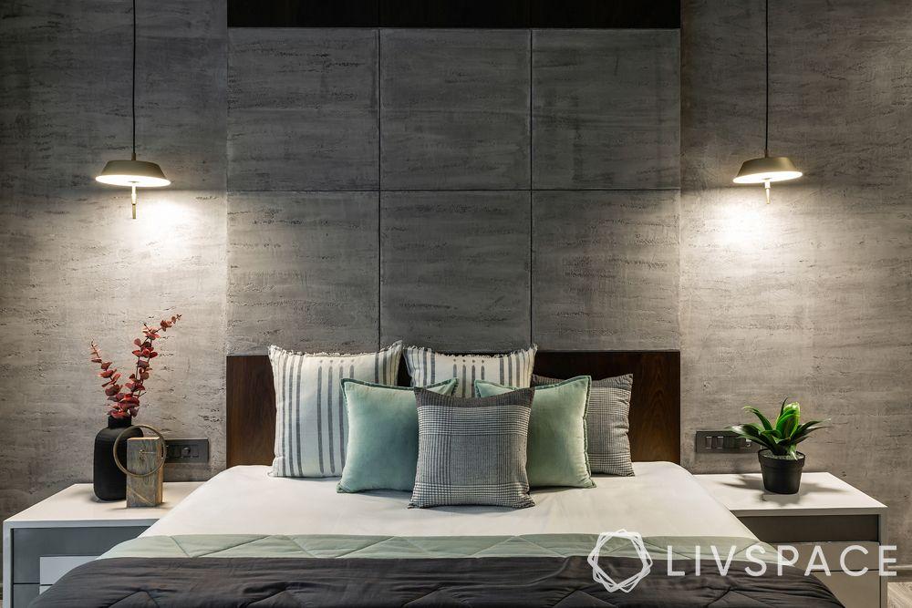 bedroom design ideas-contemporary bedroom-grey wall