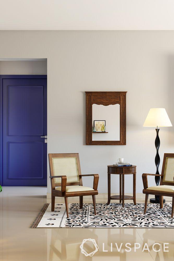 north-facing-house-vastu-plan-entrance-purple-door-living-room