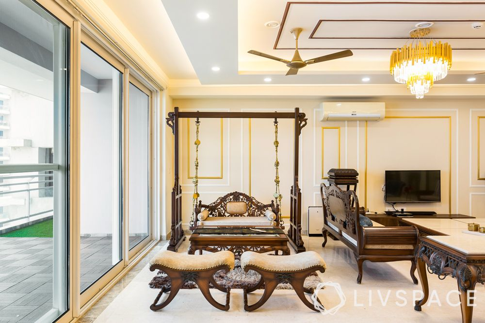 north-facing-house-vastu-plan-colour-cream-white-wall-panelling-colonial-style-swing-balcony