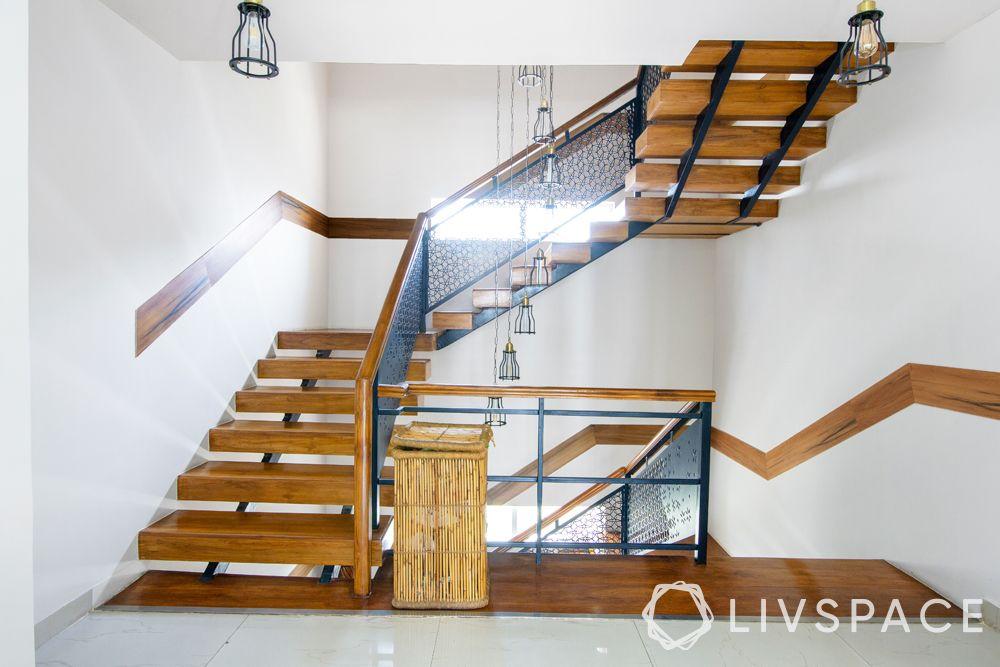 north-facing-house-vastu-plan-staircase-wooden-pendant-lights