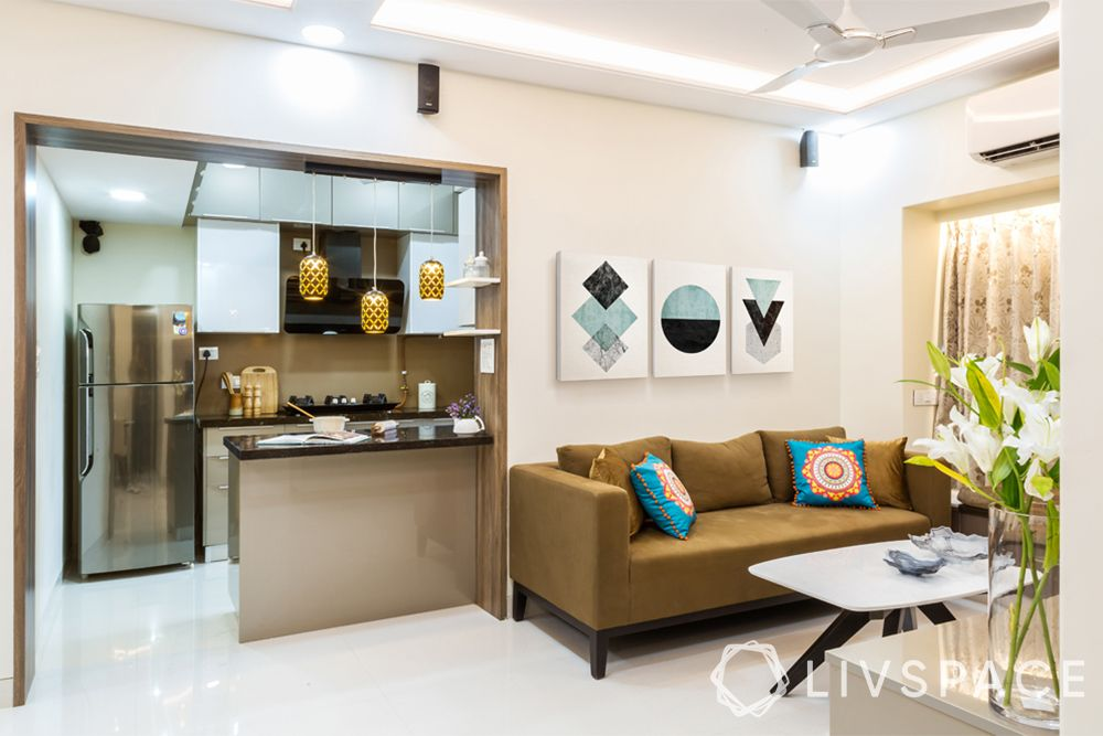 open kitchen concept-kitchen in living room