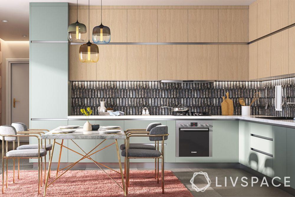 open kitchens-dining room-kitchen-mid century modern kitchen