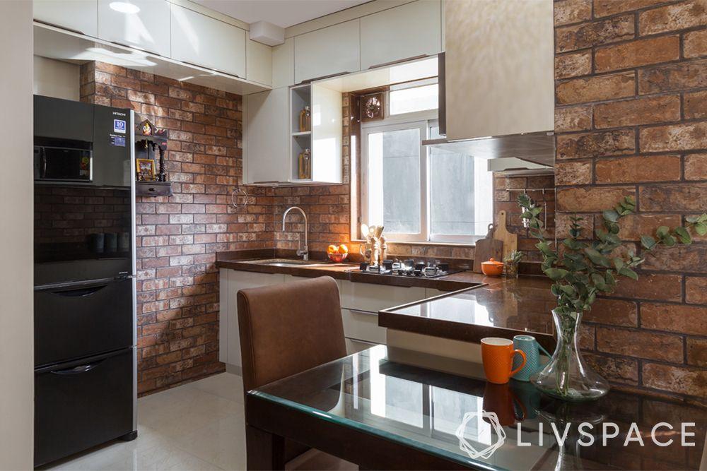 open kitchens-rustic kitchen-brick walls-industrial kitchen