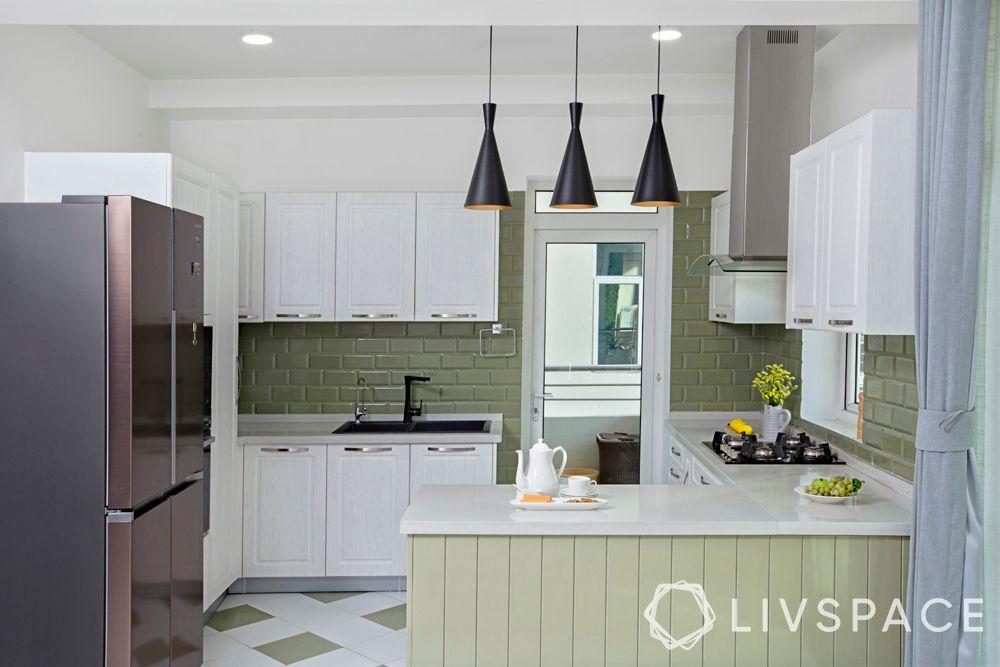 open kitchen concept-golden triangle