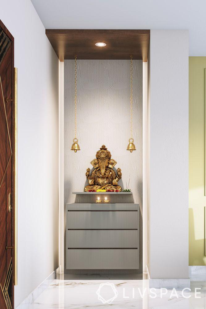 mandir designs for small flats-ganesha-chest of drawers