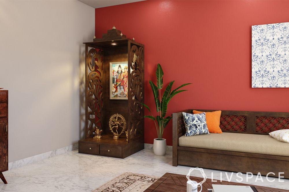mandir designs for small flats-wooden pooja-portable design