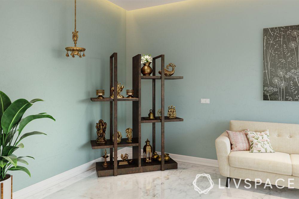 mandir designs for small flats-contemporary design-multi-storage unit