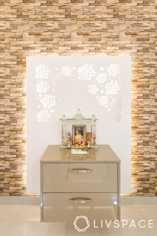 mandir designs for small flats-white background-chest of drawers