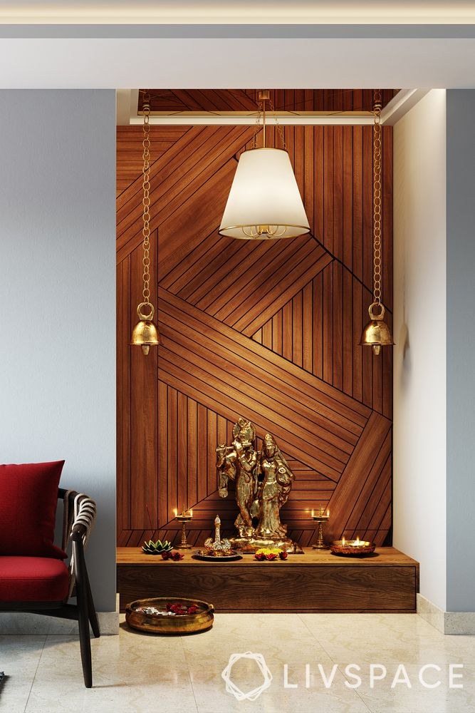 pooja unit design-wooden mandir