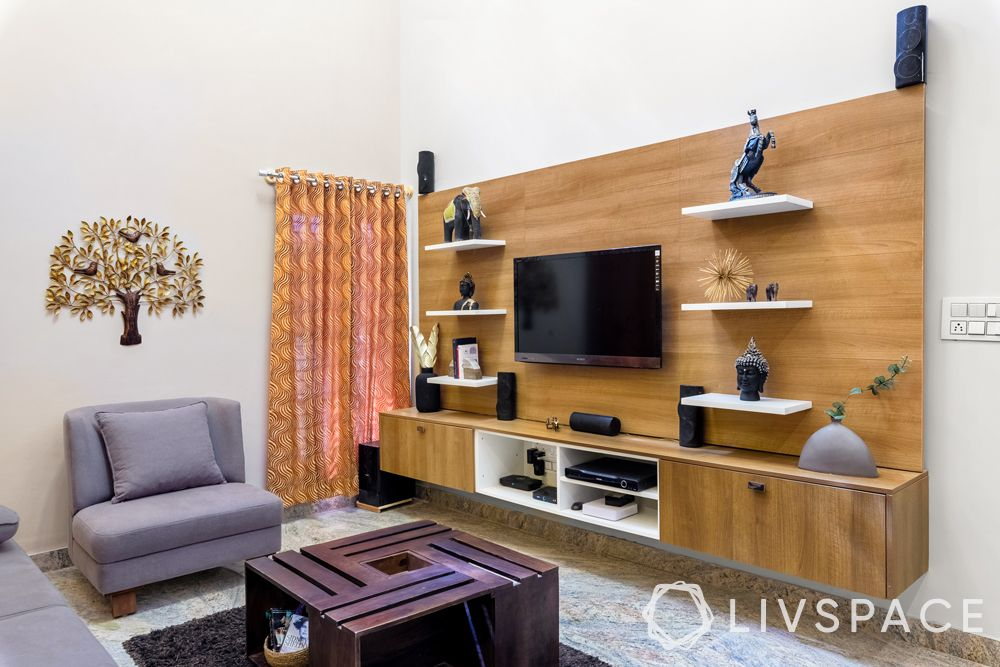 low cost simple TV unit designs-wooden cabinets-decoration