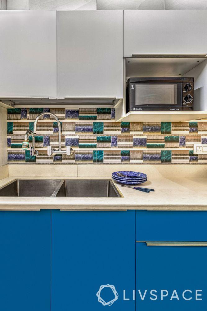 small kitchen designs-quartz countertop-backsplash-oven unit