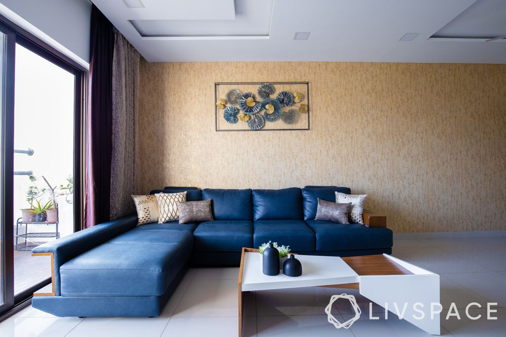 low cost house plans with photos-refurbished sofa-blue L shaped sofa-accent wall-centre table