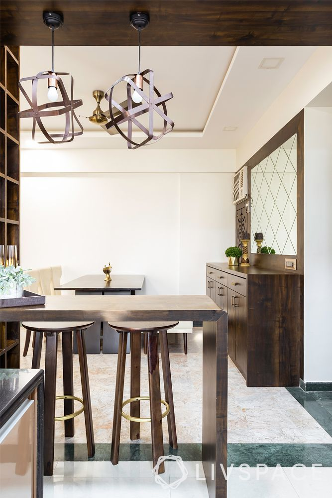 low budget simple house design-pendant lights-breakfast bar