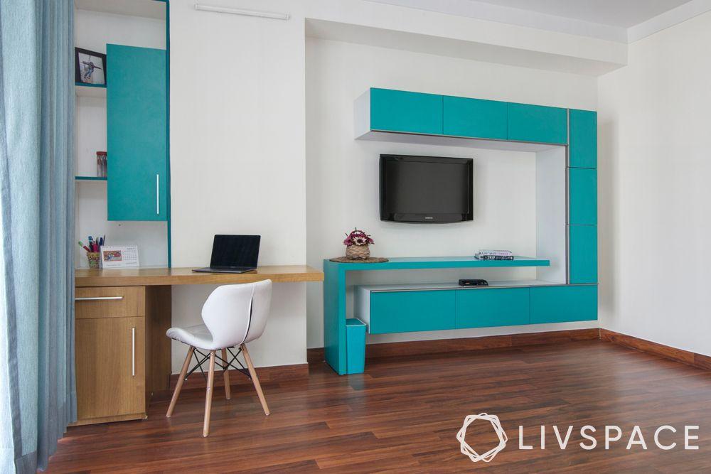 low budget simple house design-modular furniture-modular TV unit-modular study unit